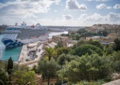 Sky Princess, Princess Cruises' latest newbuild visits Valletta